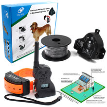 Electronic Fence System For Dogs with Remote Control Device Waterproof Vibration Shock Beep Training Collar Pet Fencing System(China)