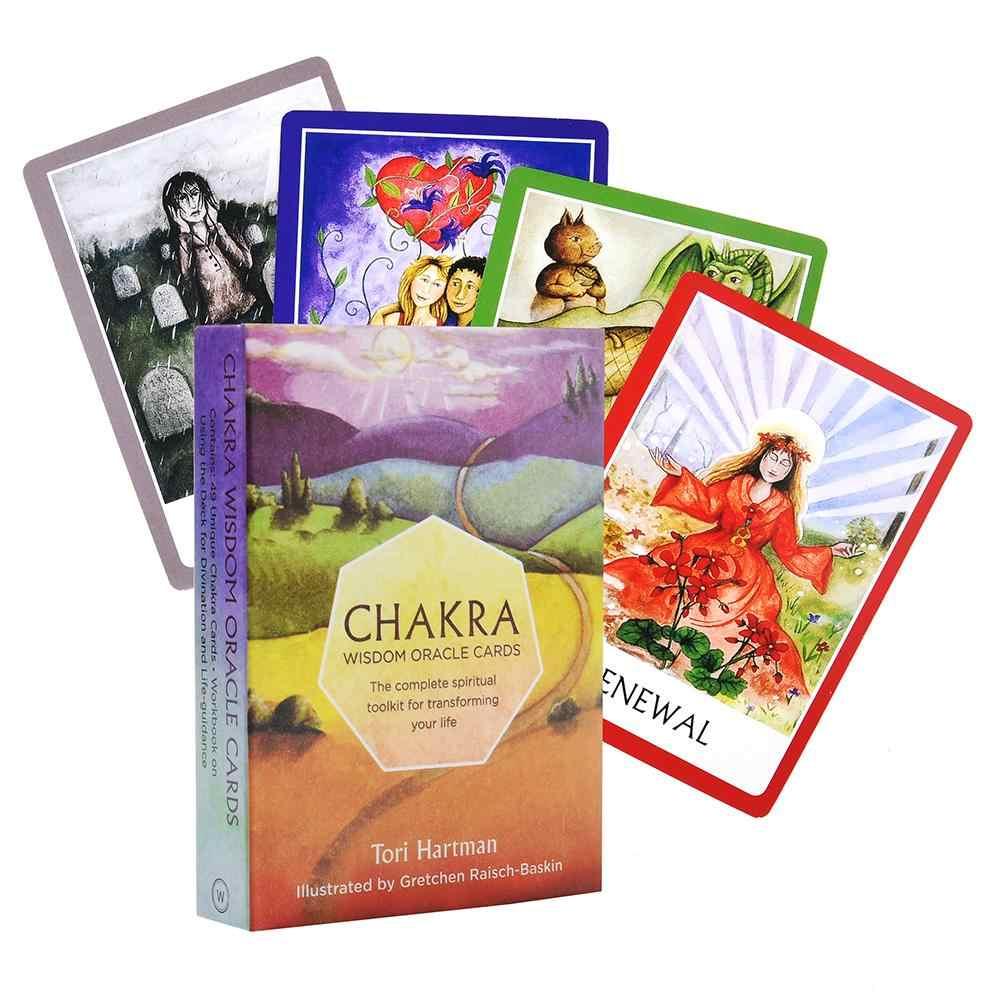 Bahasa Inggris Penuh Chakra Tarot Kartu Permainan Kartu Oracle Dek Kartu Bimbingan Malaikat Papan Permainan Pesta Keluarga Permainan