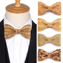 New Cork Wood Bow Tie Fashion Wooden Bow Ties For Men Women Handmade Bowtie For Wedding Party Striped Neck wear Mens Tie premium handmade wooden bow tie for men