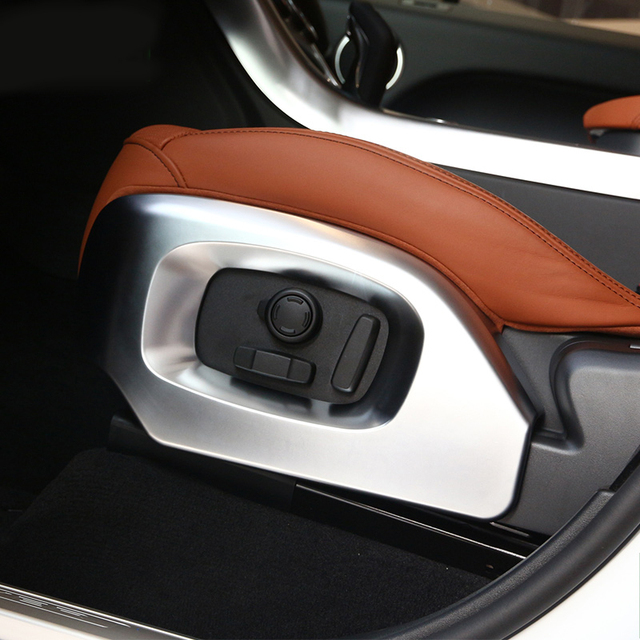 Cromo lateral para asiento de coche cubierta ajuste para land Rover Range Rover Vogue L405 autobiografía 13-17 Range Rover Sport 14-17 estilo de coche