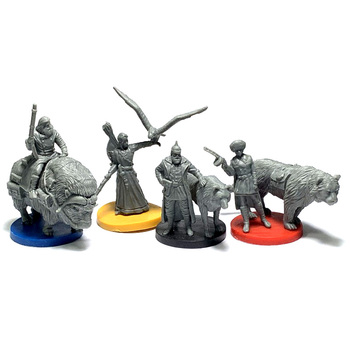 цена 4pcs Board Game Role Playing Miniatures Resin Figures Hobby Collection онлайн в 2017 году