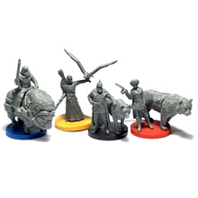 4pcs Board Game Role Playing Miniatures Resin Figures Hobby