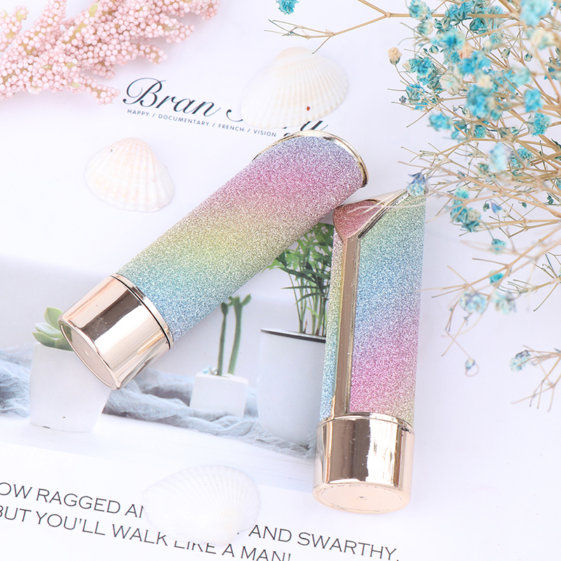 1pc New Arrival Lip Balm Tubes Empty Rainbow Color Lipstick Tube DIY Lip Gloss Packing Container