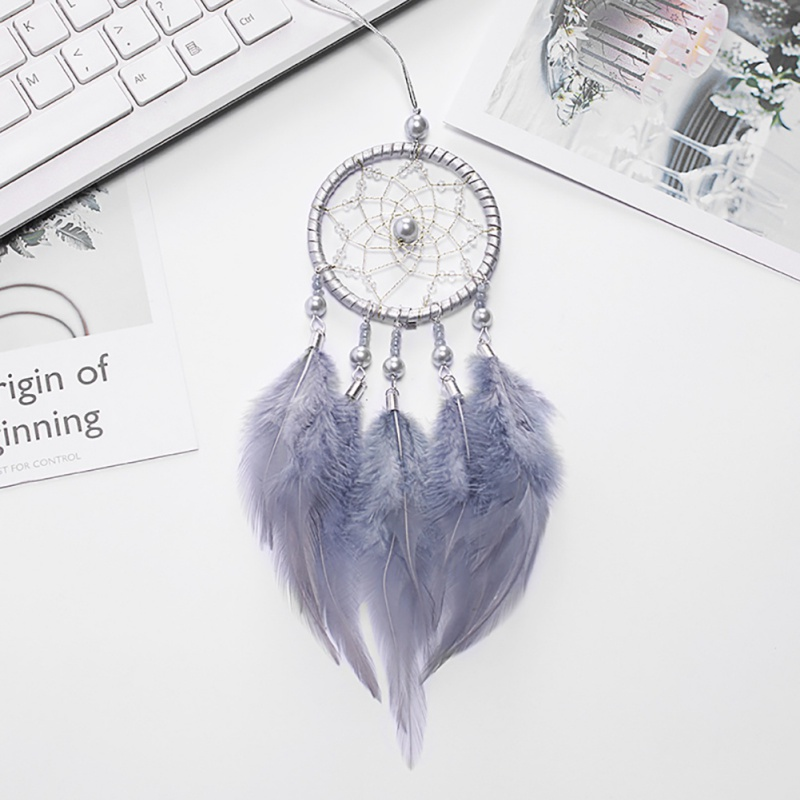 Nordic Dreamcatcher Hollow Wind Chimes Mini Car/Home Hanging Decoration Handmade Dream Net With Feather For Room Decoration