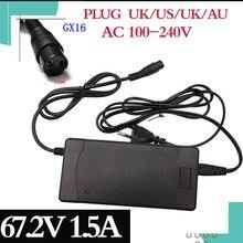 1 Pc Laagste Prijs 67.2V 1.5A Lader 60V 1.5A Power Adapter Voor 60V16S Lithium Lithium Ion Elektrische Fiets elektrische Fiets