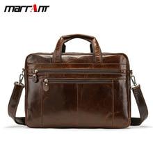 Business mens bag large capacity head layer leather cross - style handbag single shoulder double zipper travel bag.