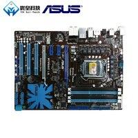 Asus p7p55d le intel p55 original usado desktop placa-mãe soquete lga 1156 core i7/core i5 ddr3 16g atx
