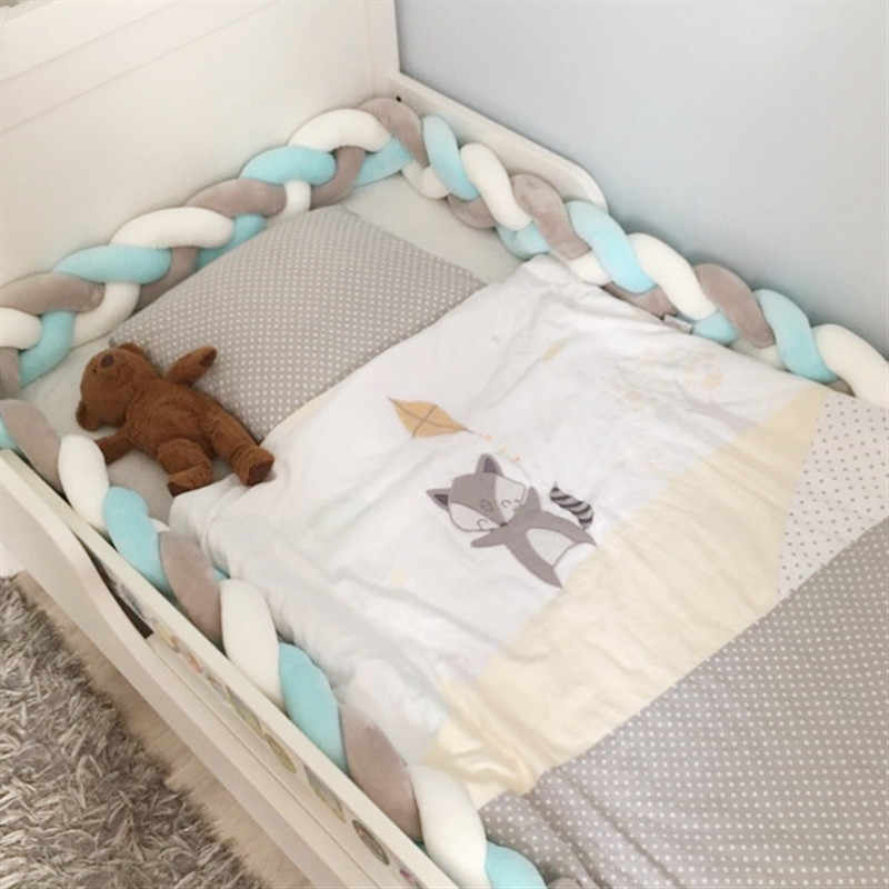1M 2M תינוק מיטת פגוש קשר עיצוב יילוד תינוק עריסה מגן מיטת פגושים מצעים אביזרי תינוקות חדר דקור