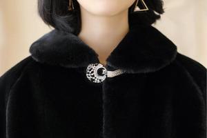 Image 4 - SHAMAI Black Faux Fur Winter Bridal Wrap Warm Ivory Fur Boleros Bridal Cape Evening Coat Wedding Jacket Party Dress wrap