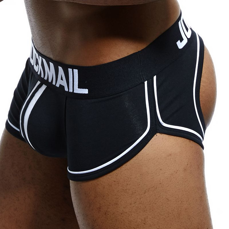 jockmail Brand <font><b>Sexy</b></font> Gay Underwear Men <font><b>Jockstrap</b></font> String Homme Thoncalzoncillo <font><b>hombre</b></font> penis Open Backless crotch Cotton Boxer Men image