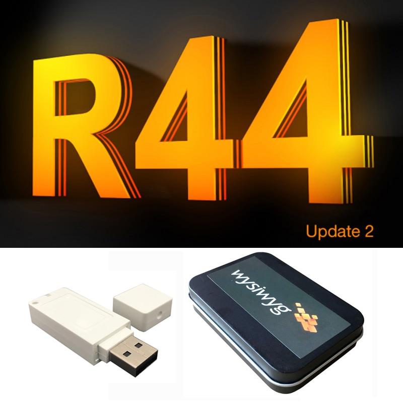 Nuove Uscite R44 Update2 Dongle WYSIWYG r44 r40 Software Luce Della Fase Spettacolo Apparecchio di Simulatore di Criptati USB Cane Interfaccia Eseguire