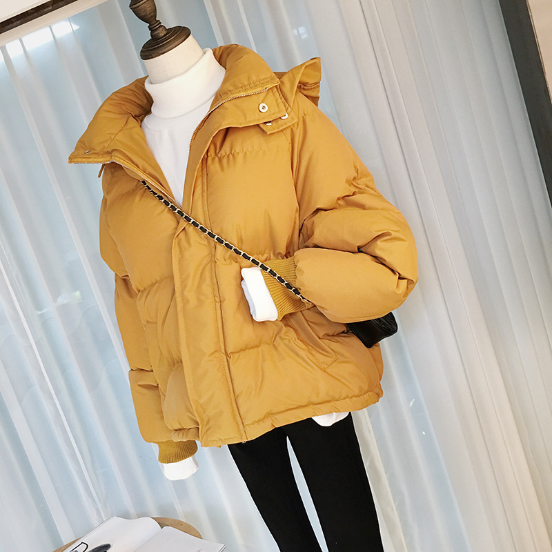 Short Winter Jacket Women Oversize   Parka   Coat Warm Thick Down Cotton Coat Female Loose Hooded Padded Women Winter Jacket Q1913