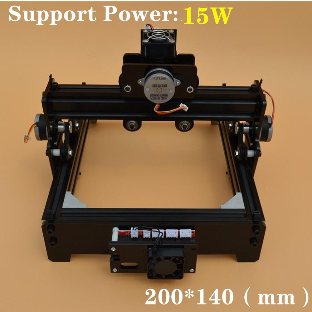 14*20cm Mini 15W CNC Machine de gravure Laser haute puissance et haute précision Laser Machine de gravure en métal Machine de marquage en métal