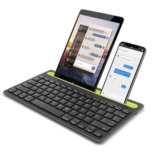 Bluetooth Keyboard Cordless with Phone Tablet PC Holder Docking Wireless Stand For Andriod iPhone iPad mini