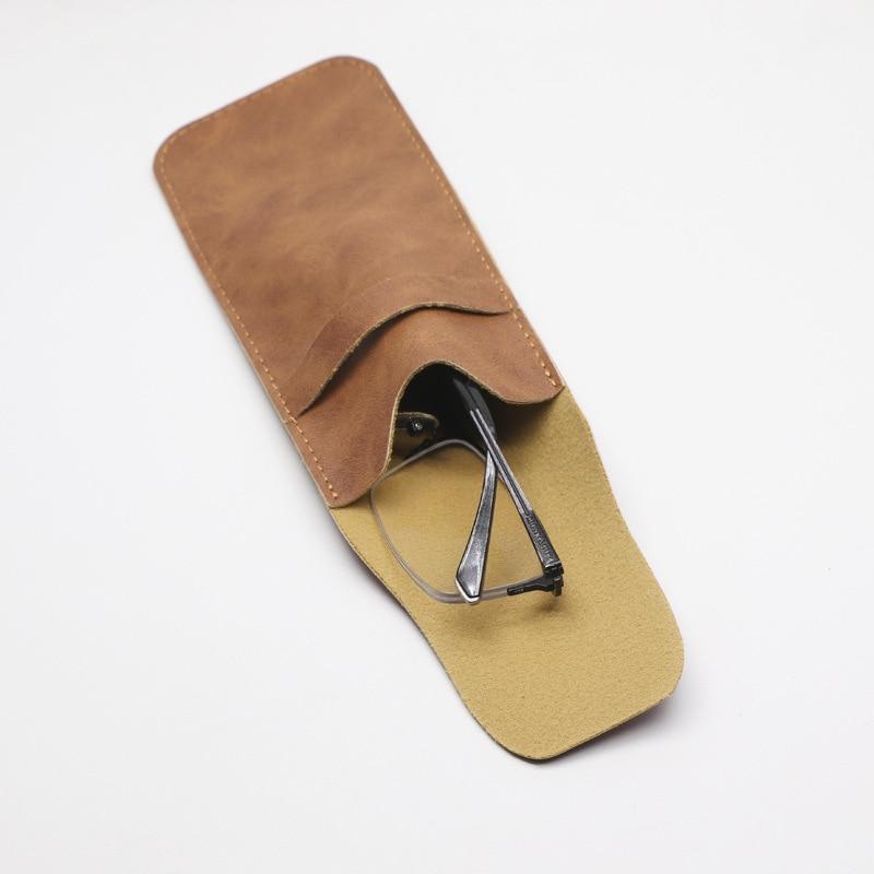 Sheepskin Pattern Glasses Leather Case Optical Frames Leather Case Hide Substance Handfeel Soft