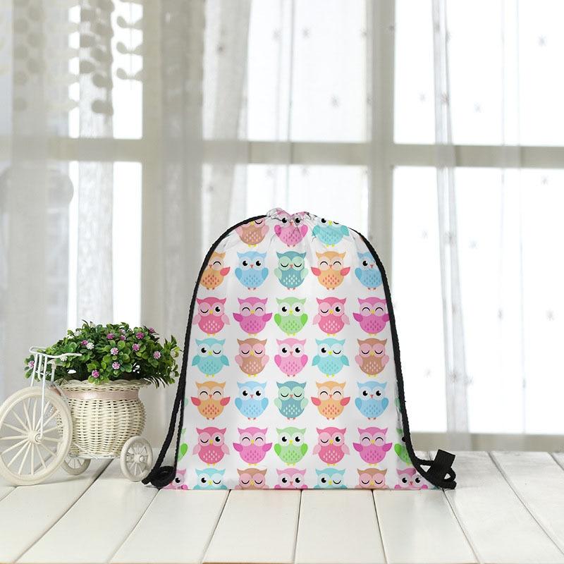 Backpack Bag Cat Shopping Receiving Rope 3D Digital Printing Bundle Bag Wholesale Drawstring Bag Women Men Fashon Fashion New
