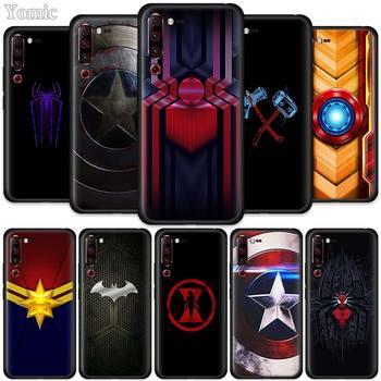 Перейти на Алиэкспресс и купить Черный силиконовый чехол Marvel с логотипом супергероя для Lenovo K10 Plus A6 Note Z6 Pro 5G Lite Youth, мягкий ТПУ мобильный телефон, чехол