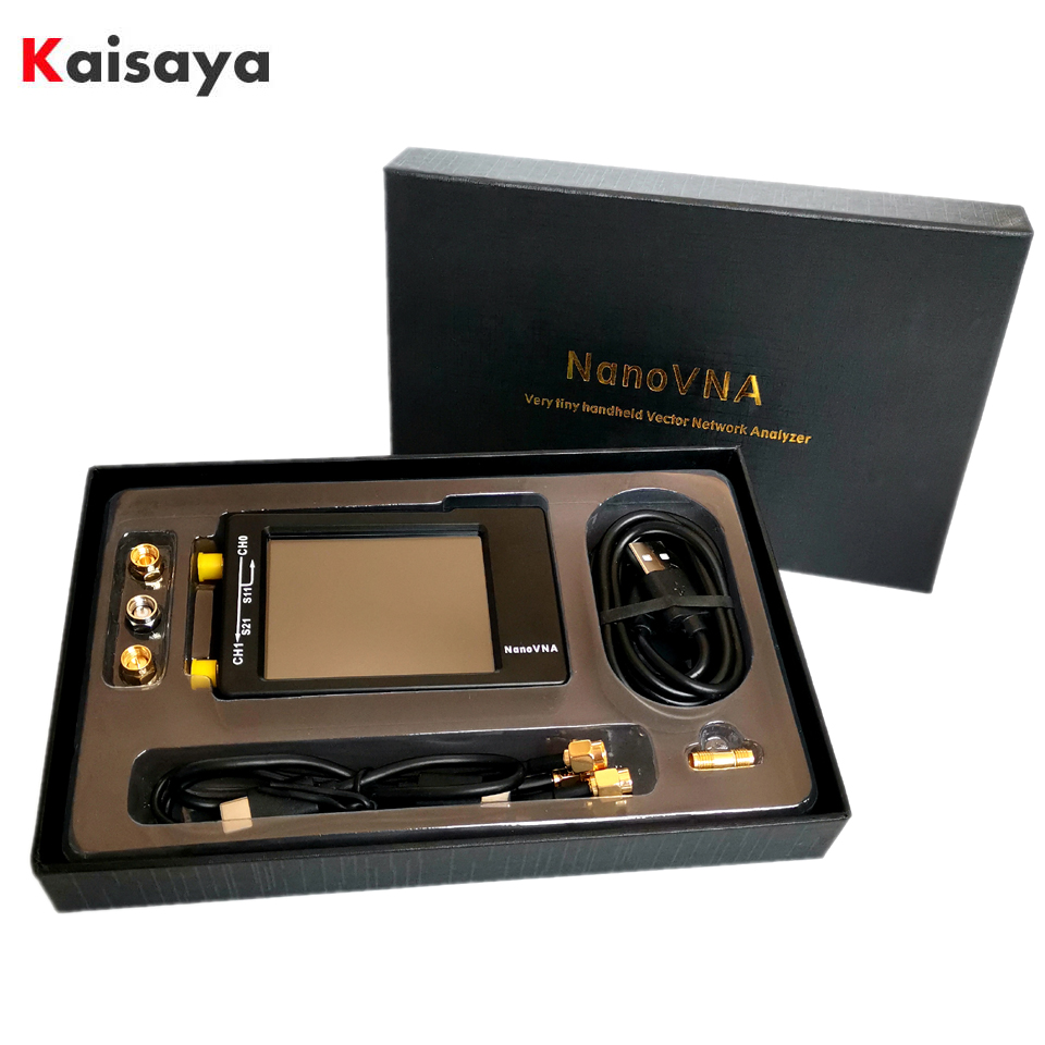 Nanovna-h NanoVNA-H4 50KHz ~ 1.5GHz VNA 2.8 cala LCDHF VHF UHF UV wektor sieciowy analizator antenowy + 450 mah bateria + plastikowa I4-003