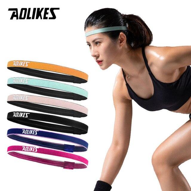 Men Women Sport Hair Band Silicone Sweat Belt Running Ridding Headband Yoga Hair Girls Anti-slip Elastic Sweatband