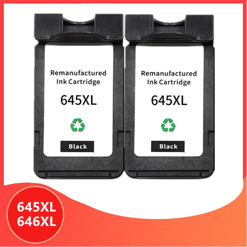 2Pack Black PG645 CL646 XL ink cartridge replacement for Canon PG-645 CL-646 PG 645 CL 646 Pixma MG2460 MG2560 MG2960 MG2965 image