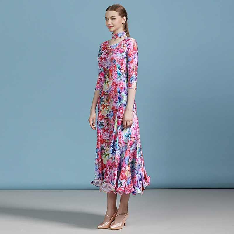 Дешевые бальное платье латино танцы вальса Платье женское испанское Платье Фламенко современные танцевальные костюмы костюм для танго foxtrot платье