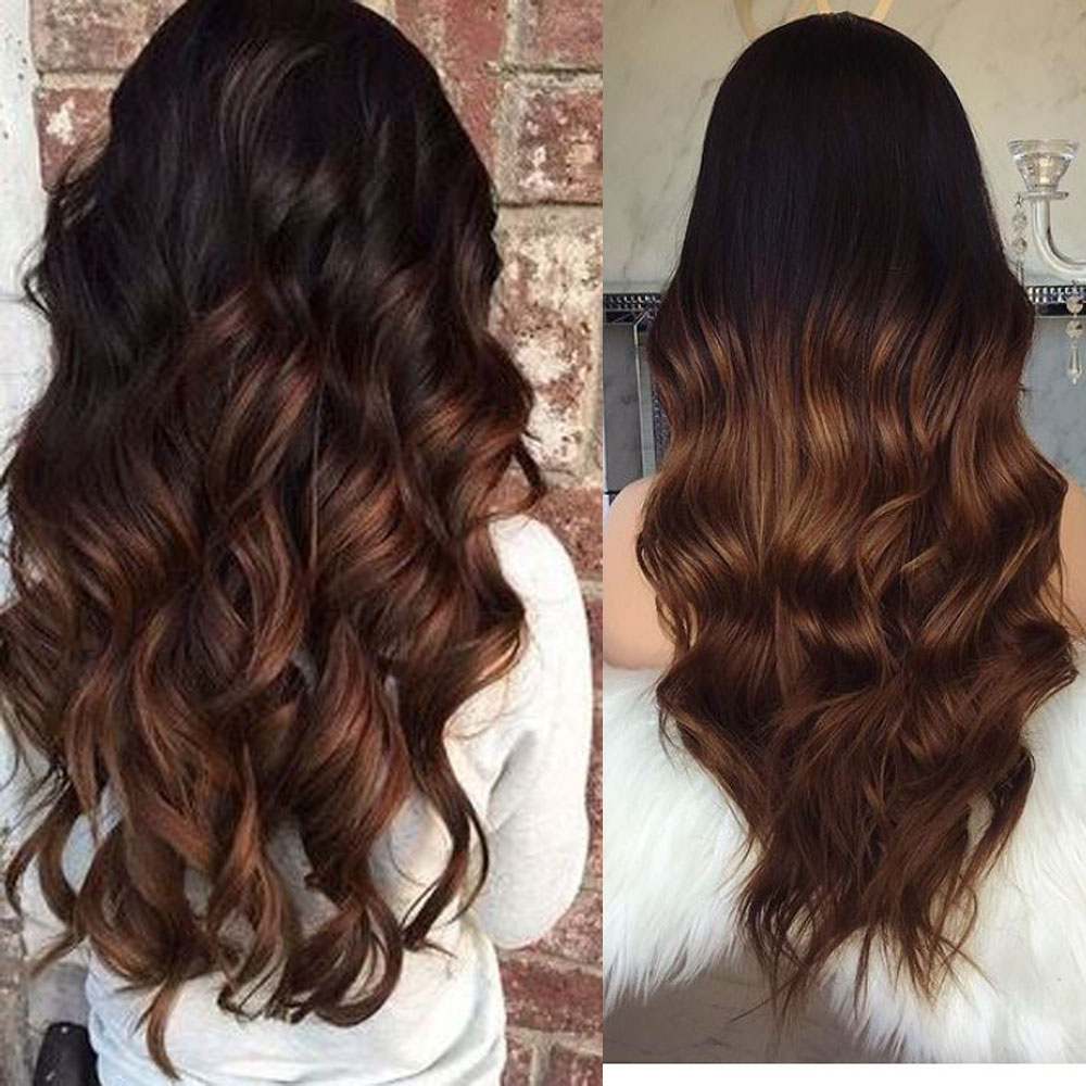 HairToGo Silk Base Human Hair Wigs Ombre 4x4 Silk Top Closure Wigs Remy Hair Human Wigs With Layers None PU Scalp