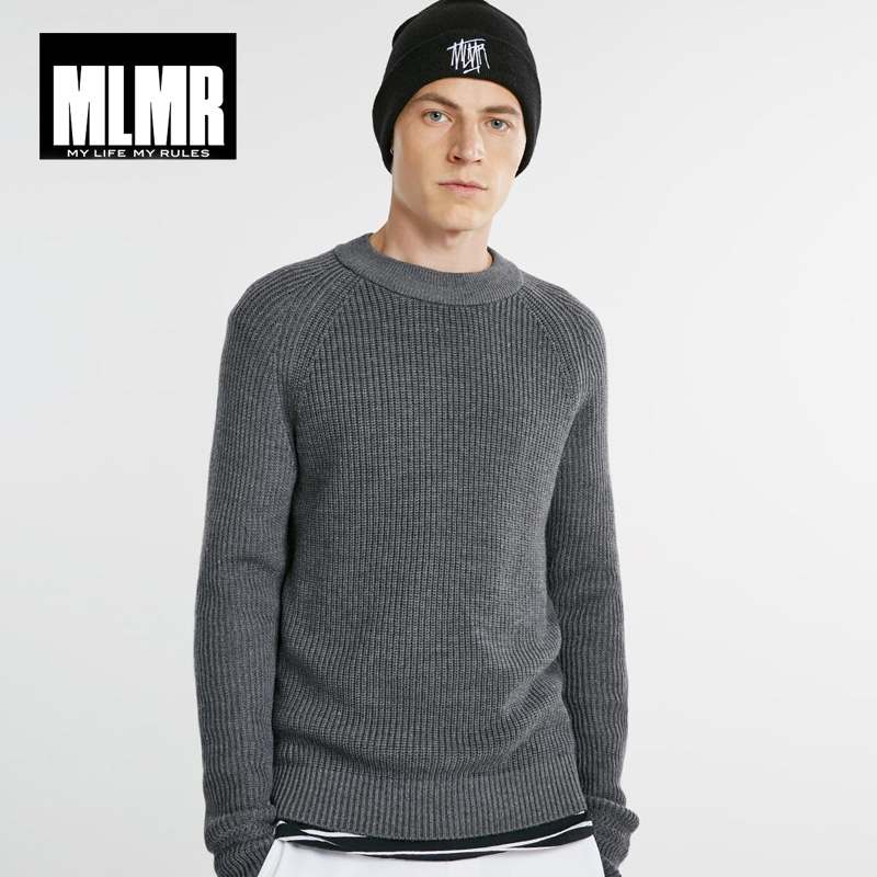 MLMR Crew Neck Autumn Winter Men Wool Blended Knit Sweater |218325502