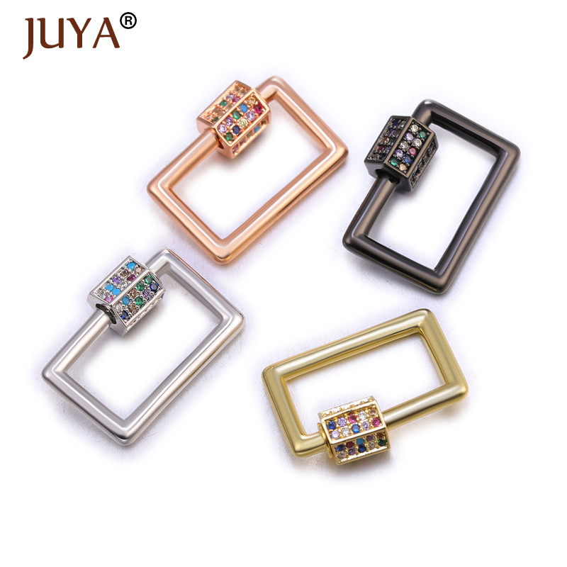 Juya Jewelry Clasps Fastener Screw Clasps Supplies Handmade Accessories For Luxury Jewelry Making DIY Woman Necklace Bracelet