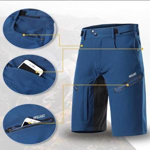 Image 4 - ARSUXEO pantalones cortos de ciclismo para hombre, pantalones cortos para bicicleta de montaña, corte holgado, para deportes al aire libre, senderismo, descenso, 2020