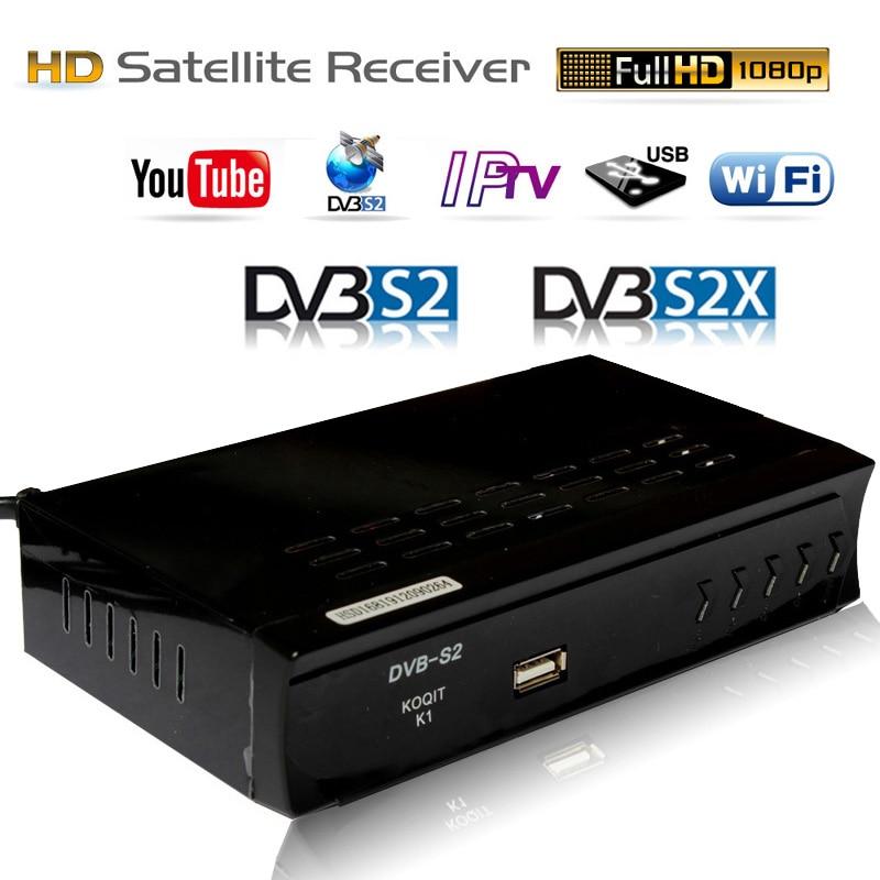 Tüketici Elektroniği'ten Uydu TV alıcısı'de KOQIT IPTV m3u DVB S2 dijital tv kutusu Combo HD Tuner uydu alıcısı 1080P çanak alıcısı USB (RJ45 Lan wifi) youtube Player title=
