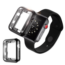 TPU Frame Screen Protector Watch Case For Apple Series 3 2 1 42mm Wristband Shell Protective iWatch 38mm