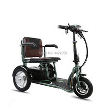 Ultra-light folding elderly adults convenient to pick up children's electric three-wheeled scooter(China)