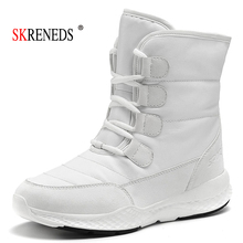 SKRENEDS Women Snow Boots Winter Warm Boots Thick Bottom Platform Waterproof Ankle Boots For Women Thick Fur Cotton Shoes Size