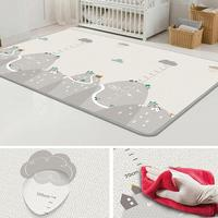 Double sided Non slip Crawling Game Pad Infant Living Room Easy Cleaning Play Rug Baby Play Carpet Kids Play Carpet