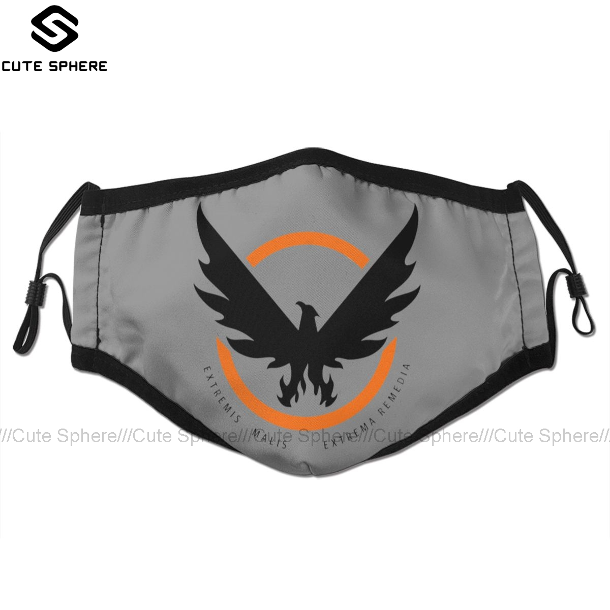 Tom Clancy S The Division Mouth Face Mask The Division 2 SHD Logo Facial Mask Funny Kawai With 2 Filters For Adult