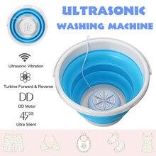 Портативный ультразвуковой турбо автоматический Электрический ролик мини-стиральная машина быстрая Чистка стирка инструмент для путешествий Dormitories USB 10V