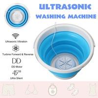 Tragbare Ultraschall Turbo Automatische Elektrische Roller Mini Waschmaschine Schnell Reinigen Waschen Werkzeug für Reise Schlafsäle USB 10V-in Waschmaschinen aus Haushaltsgeräte bei