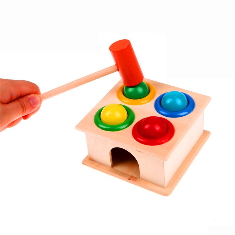 1 Набор деревянных молотков с мячом образовательные игры для хомяка детские забавные игрушки коробка для раннего обучения