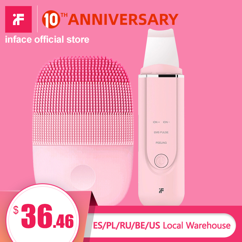 Inface Facial Cleansing Brush & Ultrasonic Ion Cleansing Skin Scrubber