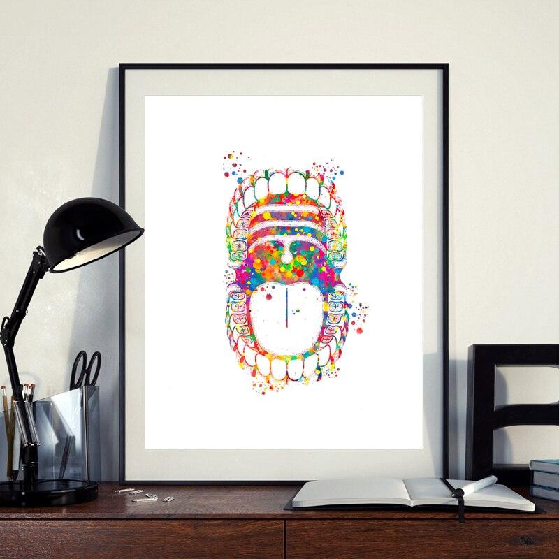 Dental canvas art prints