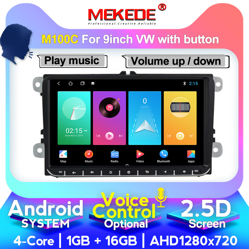 MEKEDE Voice control Android 10.0 Car GPS navigation DVD player For golf 4 golf 5 6 touran <font><b>passat</b></font> <font><b>B6</b></font> caddy transporter t5 polo image