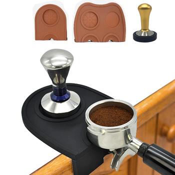 Mata do kawy z karbowanym silikonem antypoślizgowa mata do Espresso sabotaż mata sabotażowa mata z obniżoną krawędzią narożnik mata Pad narzędzie tanie i dobre opinie Z gumy silikonowej