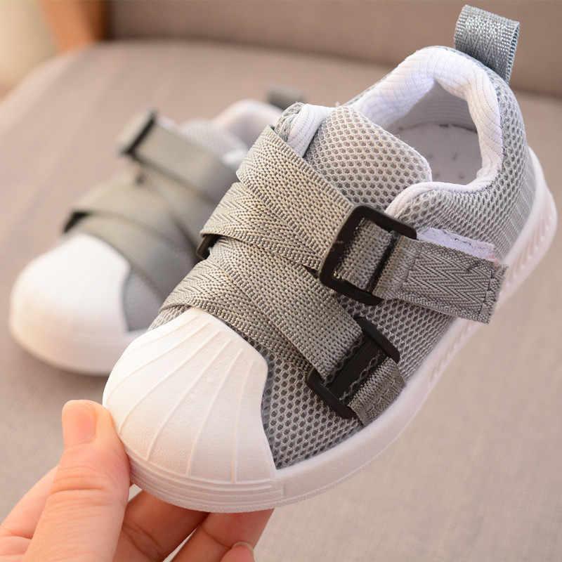 2019 למעלה איכות יילוד נעליים יומיומיות תינוק בנים ובנות ספורט נעלי רך ילדים סניקרס כותנה נעלי לאביב סתיו החורף