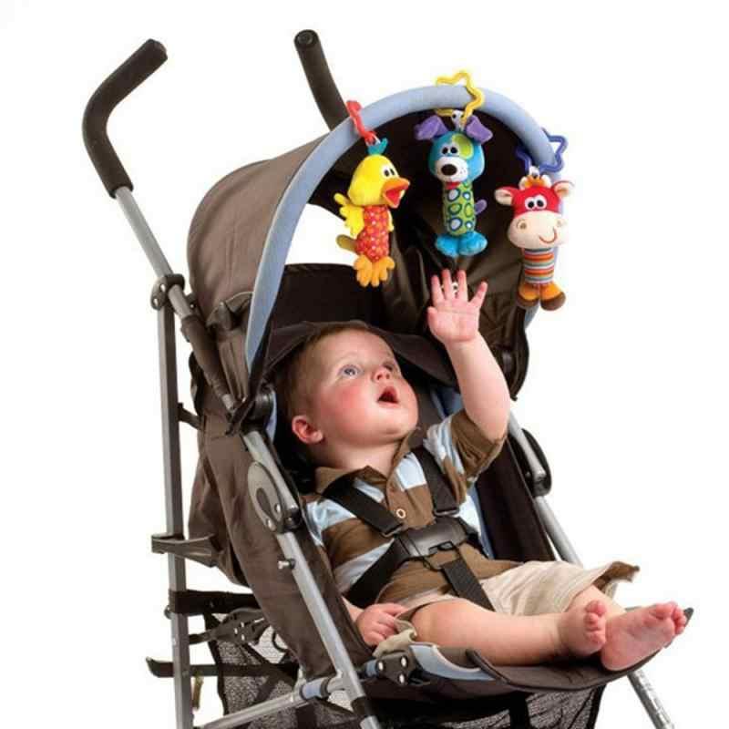 1 шт., детская погремушка, Детская Подвеска для коляски, детская игрушка, автомобильная подвесная кровать, подвесная погремушка в виде животного, детская погремушка для малышей