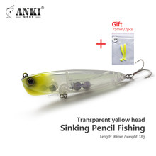 ANKI KEDI sinking Pencil Fishing lure 18.2G/90mm Ultra Long Cast Slow Sinking Bait Fish Gear Product with Mustard steel Hooks