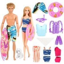 2019 Newest Hot Sale handmade Doll Accessories summer suit kits swim wear for ken barbie doll surfboard toys best birthday gift