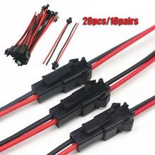 20 sztuk zestaw wtyk męski na żeński przewód przyłączeniowy złącze linia końcowa dla LED typu Downlight lampa sufitowa tanie tanio CN (pochodzenie) oczkowa Terminal Wire Connector 10cm 12cm 15cm 20pcs