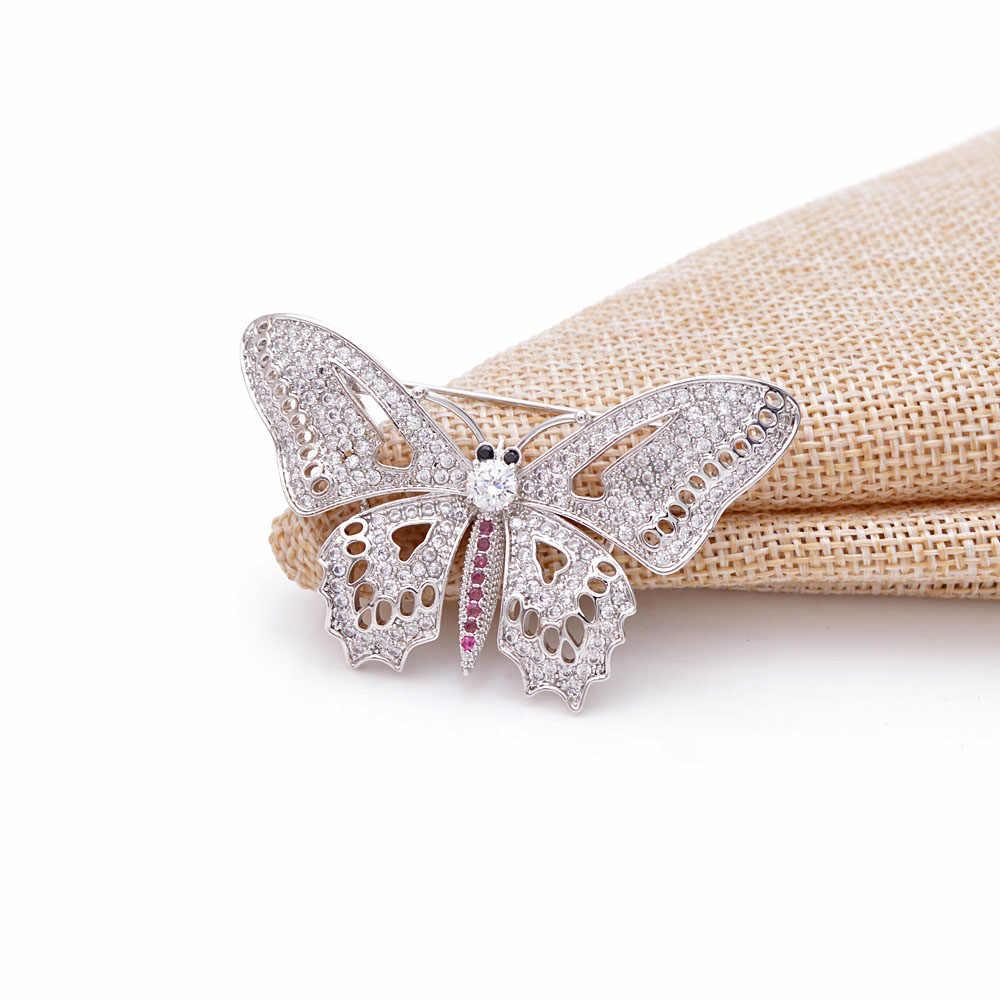 CINDY XIANG Cubic Zircnia Blume Broschen Für Frauen Perle Pin Hochzeit Brosche Pin Kupfer Material Mode Schmuck Luxus Geschenk