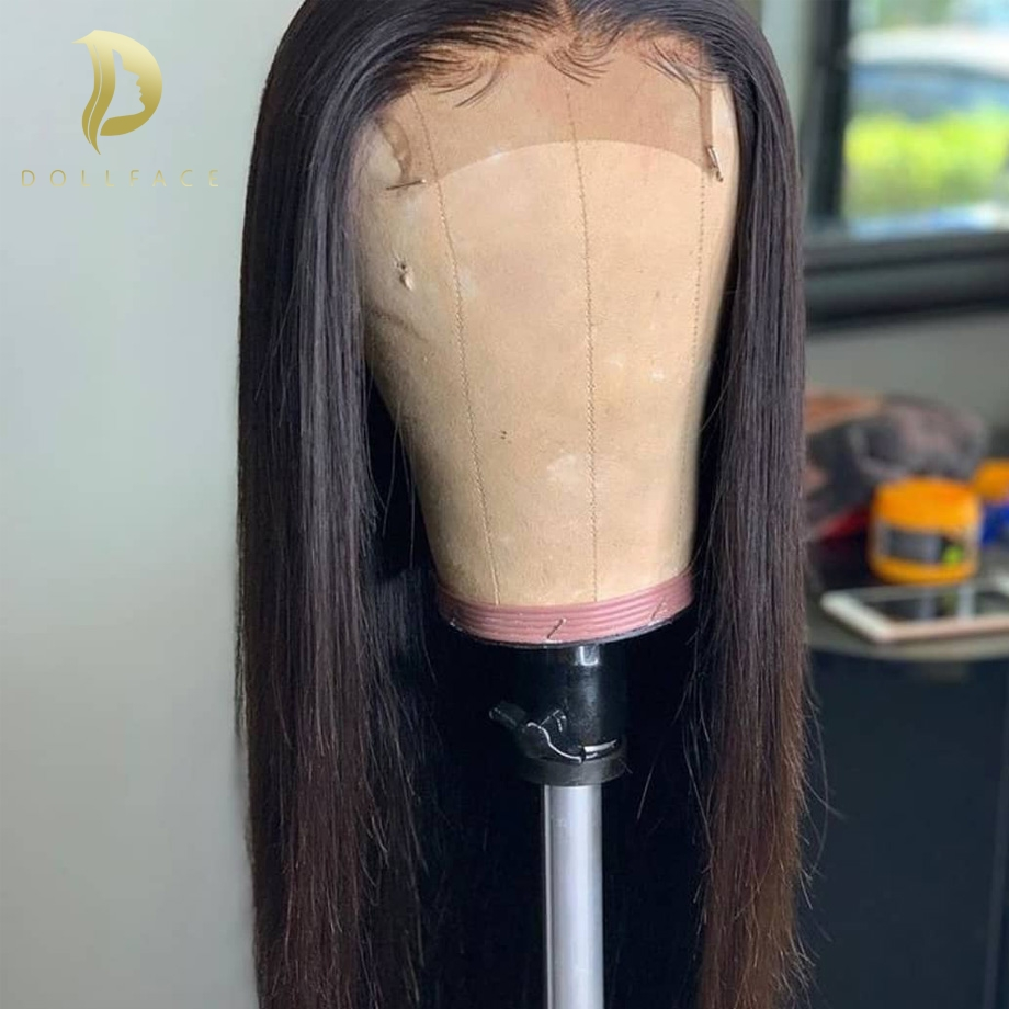 Lace Closure Wig Straight Pre Plucked With Baby Hair Lace Human Hair Wigs Brazilian Short And Long Wig Pre Plucked 4x4