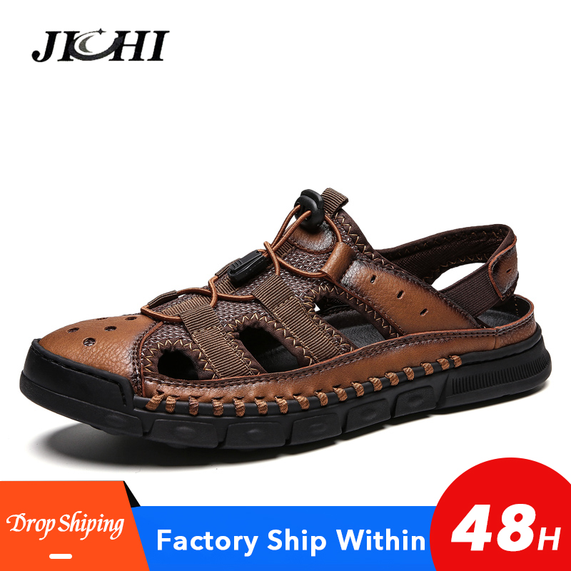 2019-new-big-size-genuine-leather-men-sandals-summer-quality-beach-slippers-casual-sneakers-outdoor-beach-shoes-38-46